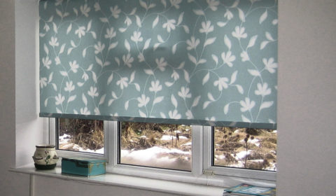 roller blinds and curtains